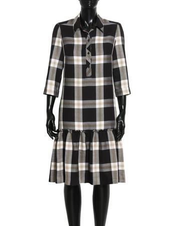 Sukienka z lekkiej  kraty z falbanką (6)