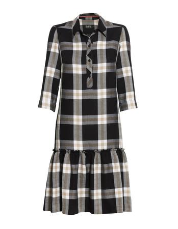 Sukienka z lekkiej  kraty z falbanką (4)