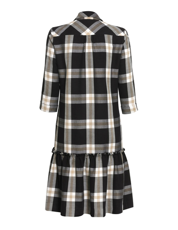 Sukienka z lekkiej  kraty z falbanką (5)