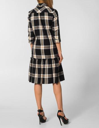 Sukienka z lekkiej  kraty z falbanką (3)