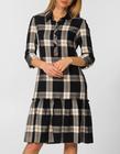 Sukienka z lekkiej  kraty z falbanką (2)