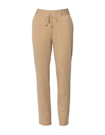 Spodnie sportowe z dzianiny - camelowe (3)