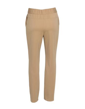 Spodnie sportowe z dzianiny - camelowe (4)