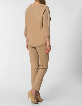 Spodnie sportowe z dzianiny - camelowe (2)