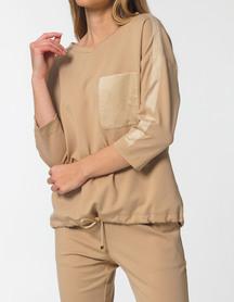 Elegancka bluza sportowa -camelowa