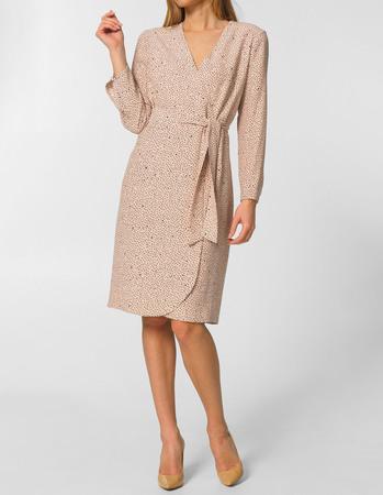 Sukienka kopertowa z wiskozy (1)