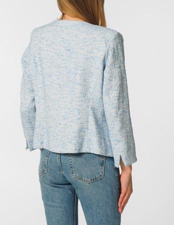 Elegancki prosty zakiet - błękitny (3)