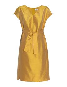 Sukienka z jedwbnego szantunguw kolorze miodowym