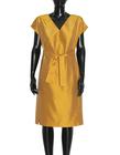 Sukienka z jedwbnego szantunguw kolorze miodowym (3)