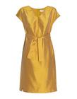 Sukienka z jedwbnego szantunguw kolorze miodowym (1)