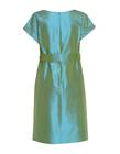 Sukienka z jedwbnego szantungu w kolorze morskim (2)