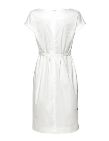Prosta sukienka z zakładkami w tali z bawełny  (2)