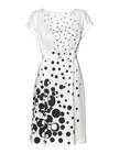 Prosta sukienka z zakładkami w tali z bawełny  (1)