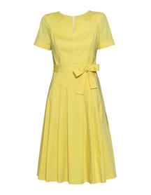 Sukienka z bawełny organicznej - żółta
