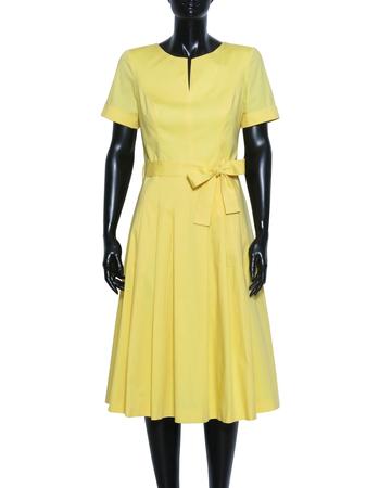 Sukienka z bawełny organicznej - żółta (3)
