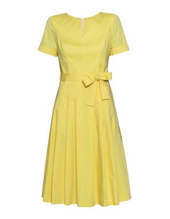 Sukienka z bawełny organicznej - żółta (1)