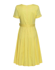 Sukienka z bawełny organicznej - żółta (2)