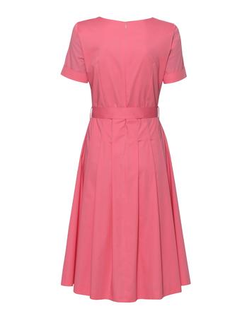 Sukienka  z bawełny organicznej- róż (2)