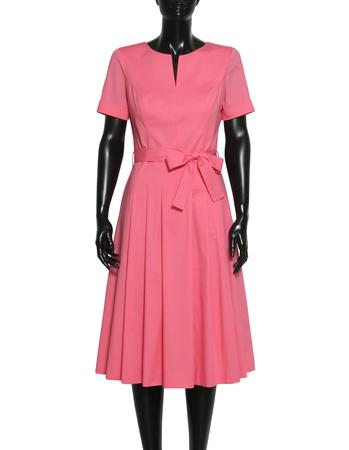 Sukienka  z bawełny organicznej- róż (3)