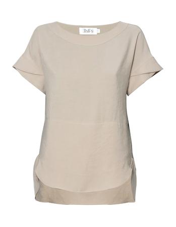 Bluzka z przewiewnej tkaniny -  jasno beżowa (1)