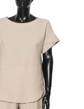Bluzka z przewiewnej tkaniny -  jasno beżowa (6)