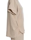 Bluzka z przewiewnej tkaniny -  jasno beżowa (3)