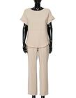 Bluzka z przewiewnej tkaniny -  jasno beżowa (4)