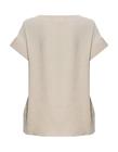 Bluzka z przewiewnej tkaniny -  jasno beżowa (2)