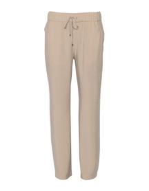 Spodnie z przewiewnej tkaniny - jasny beż