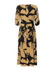Sukienka z wiskozy w złote kwiaty- długa (5)