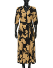 Sukienka z wiskozy w złote kwiaty- długa (6)