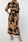 Sukienka z wiskozy w złote kwiaty- długa (3)