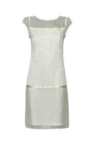 Sukienka jedwabna w prążek