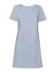 Sukienka w prostokąty błękitna