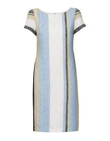Sukienka z bawełny bukle w  pionowe pasy