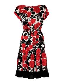 Sukienka z jedwabiu w kwiaty z cekinkami