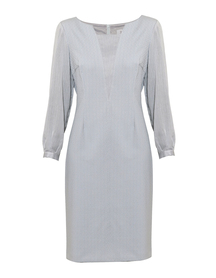 Sukienka wizytowa z żakardu bawełnianego  z dodatkami z wiskozy.