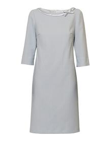 Sukienka żakardowa prosta z kokardką