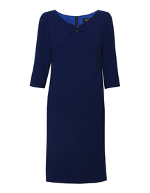 Sukienka kokardka kobaltowa