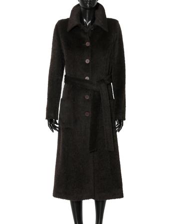 Płaszcz ciemnobrązowy z wysokogatunkowej tkaniny (3)