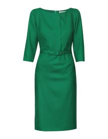Sukienka z listwą zielona
