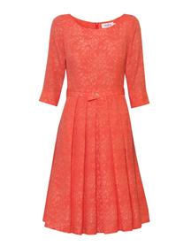 Lekka sukienka z jedwabiu - koralowa