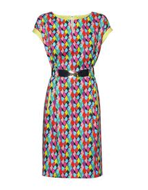 Kolorowa sukienka w drobny wzór