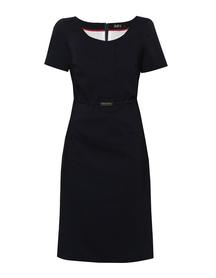 Klasyczna sukienka z bawełny w kolorze granatowym