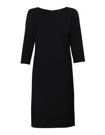 Ciemno-granatowa sukienka z mieszanki wełny