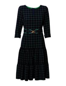 Sukienka w kratkę z falbanami