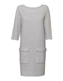 Sukienka jasno szara z kieszeniami