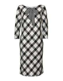 Sukienka z kraty czarno białej z kieszonkami