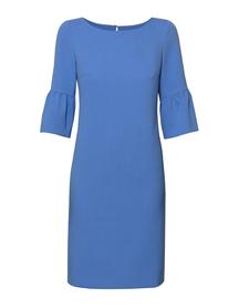 Sukienka niebieska z ciekawym rękawem
