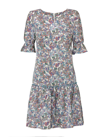 Letnia sukienka w kolorowy orientalny  wzór